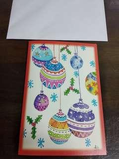 Christmas card by mouth painter