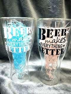 Customised Double Layered Beer Glass