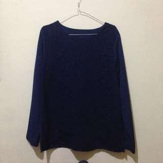 Lace navy blouse