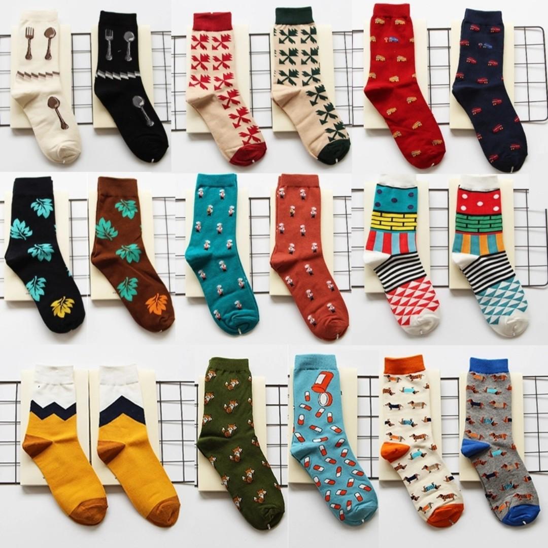 874cd8f95 2PAIRS FOR $10) Cool Printed Socks Men Women Socks Colorful Socks ...