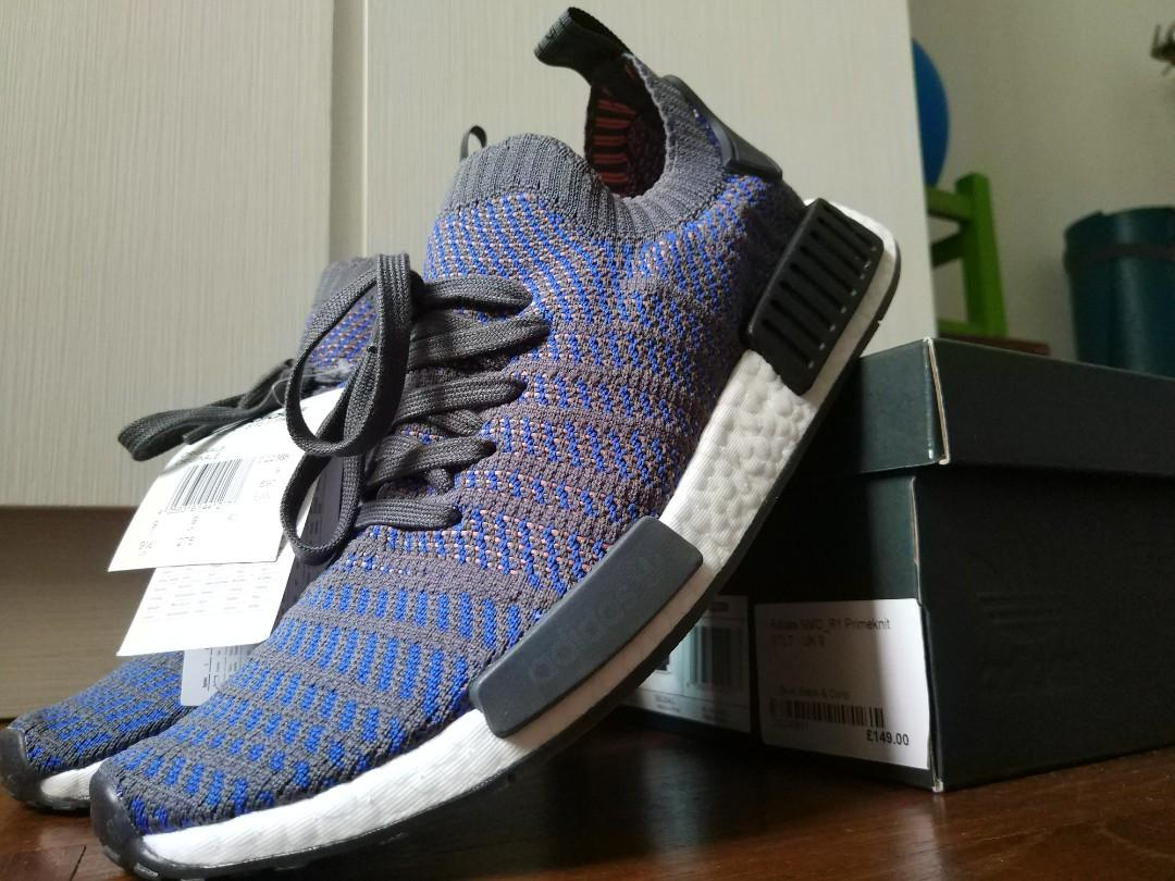 buy popular 27381 8c3d9 Adidas NMD R1 STLT PK Blue, Black & Coral (NEGOTIABLE ...
