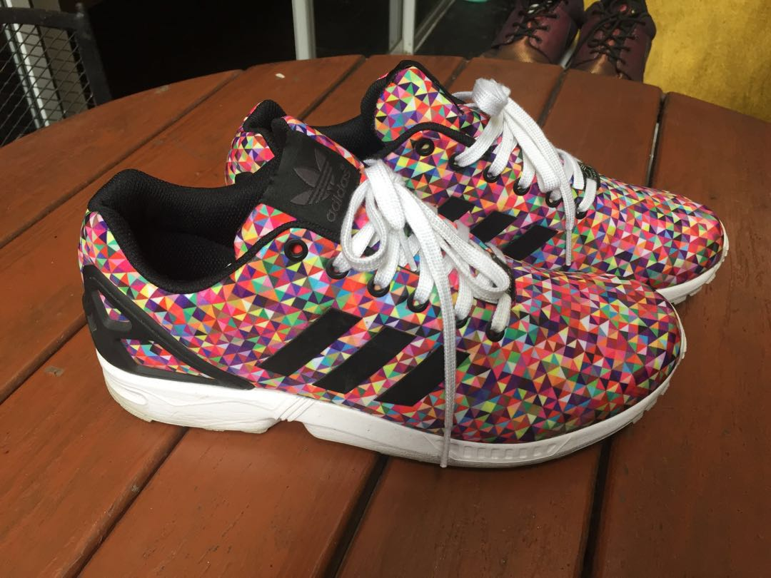 e31a11d7cf3215 Adidas zx flux multicolor size 10