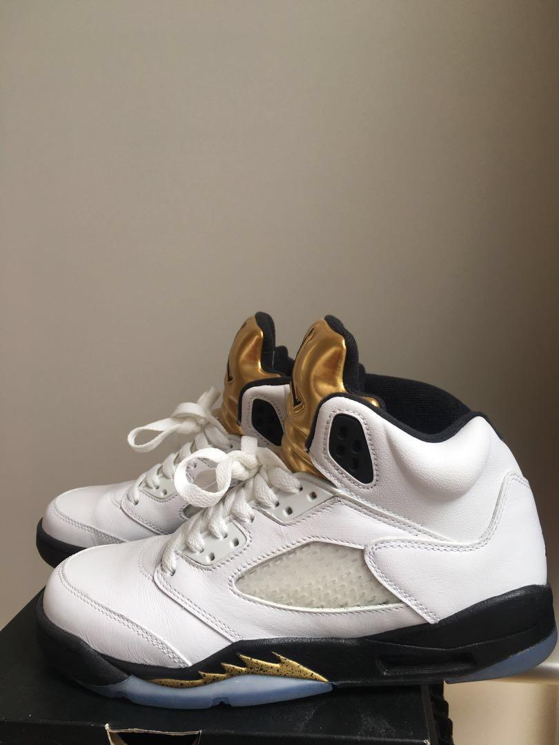 553b2a88200 Air Jordan 5 Retro OG BG Olympic Gold, Men's Fashion, Footwear, Sneakers on  Carousell