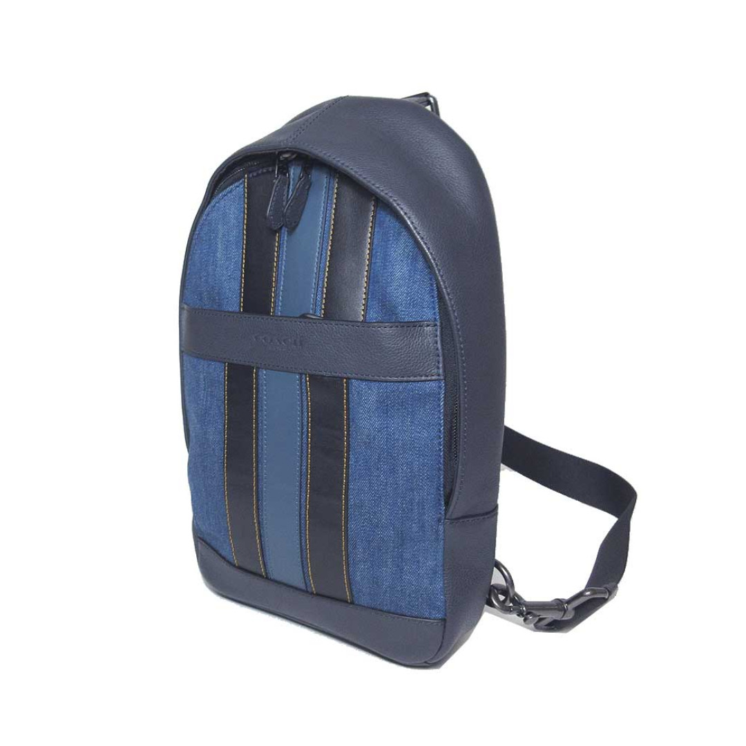 0c270f303f3a Authentic Coach Charles Pack with Varsity Stripes F23219 Leather ...
