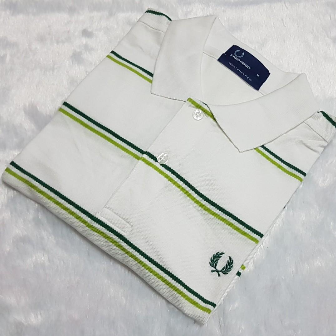 8a2e07c65 Authentic Original Fred Perry Blue Striped Polo Shirt, Men's Fashion ...