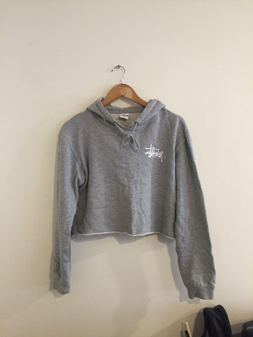 authentic stussy crop hoodie