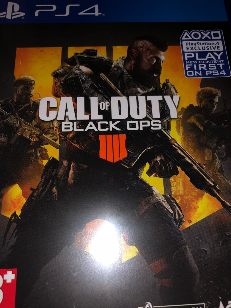 Bd Ps4 Call Of Duty Black Ops 4 Video Game Di Carousell Kaset Battlefield 1 Reg 3