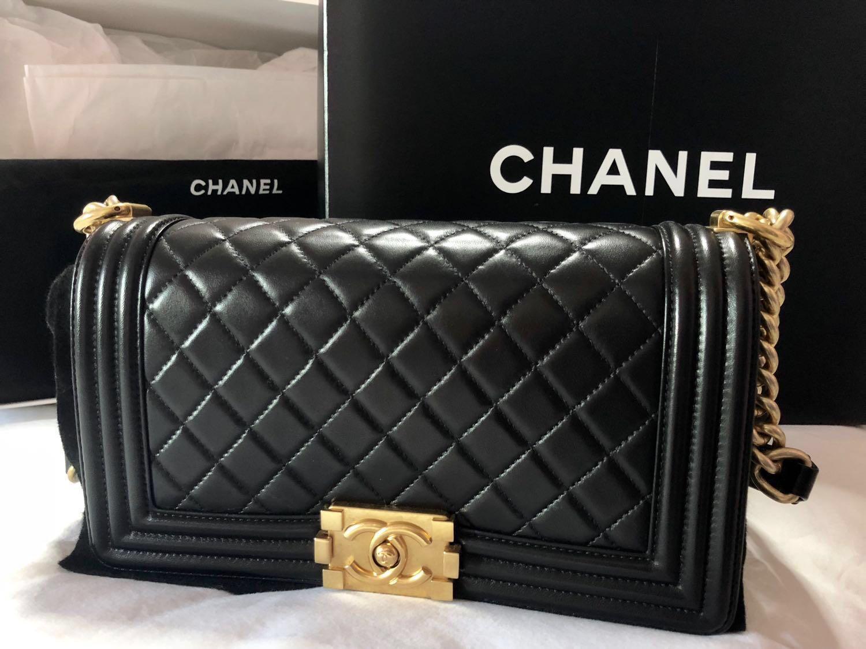 303cc9acfaa1 Chanel Boy in Old Medium size, Women's Fashion, Bags & Wallets ...