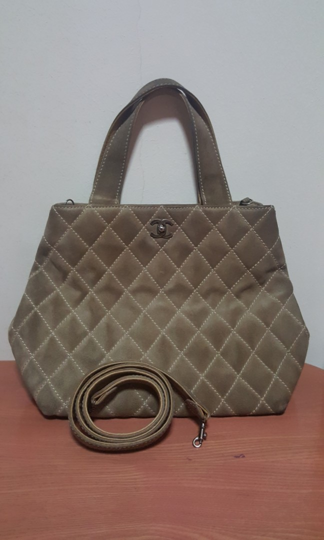 50a327c05a18 Chanel Wild Stitch Suede Convertible Bag, Luxury, Bags & Wallets ...