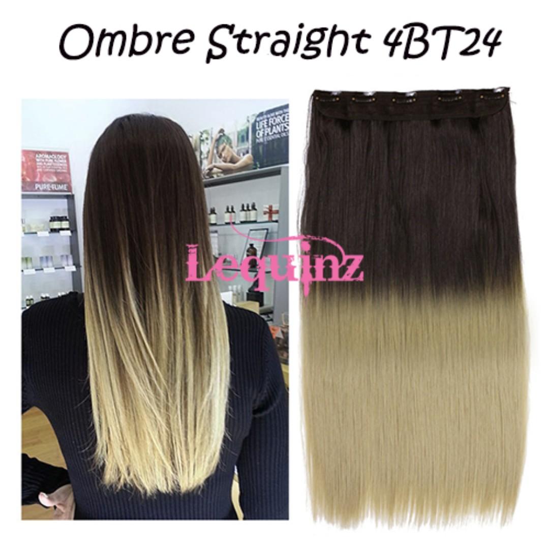 Ombre Straight Dark Brown To Ash Dark Buttermilk Blonde Hair
