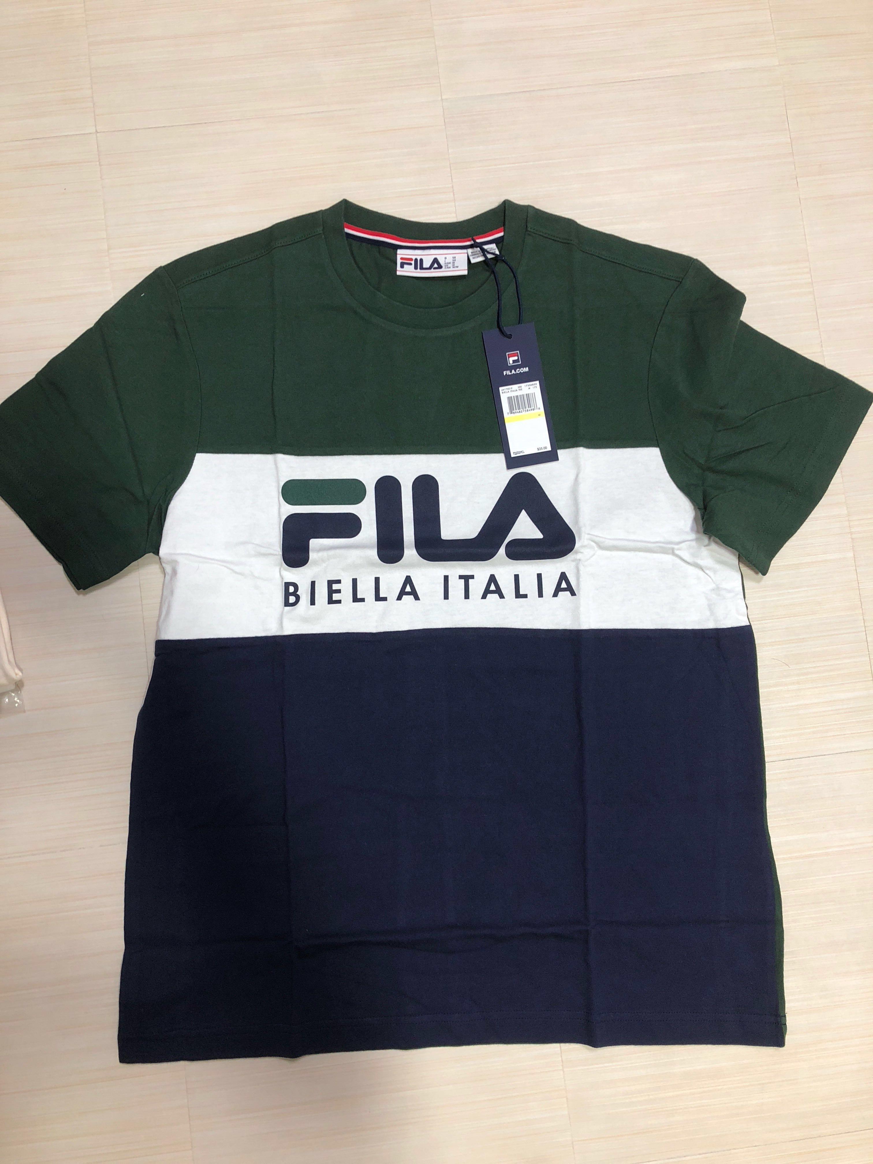 76c6d79a34a4 Fila Biella Italia Navy Green Size S