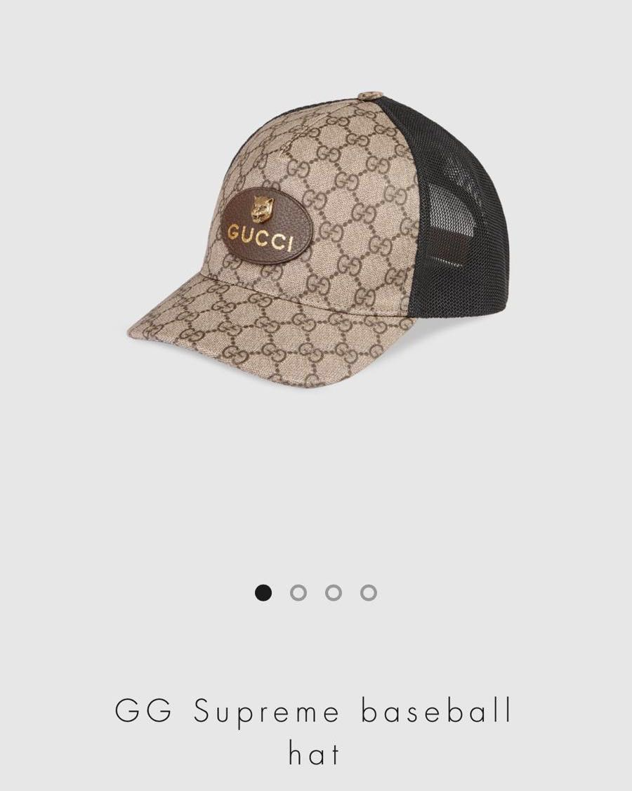 46b9faf710e GUCCI Supreme Baseball Hat
