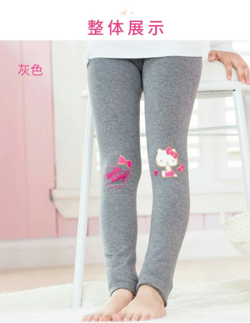 aff234535 Hello kitty small girl stretchable winter pants, Babies & Kids ...