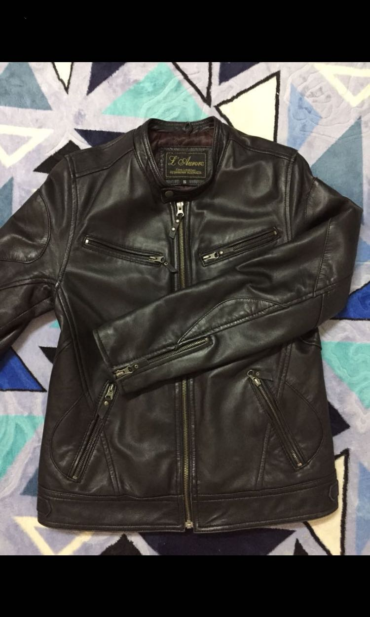 Leather Jacket Made In Australia Jaket Kulit Mens Fashion Clothes Black Bikers Style Outerwear On Carousell
