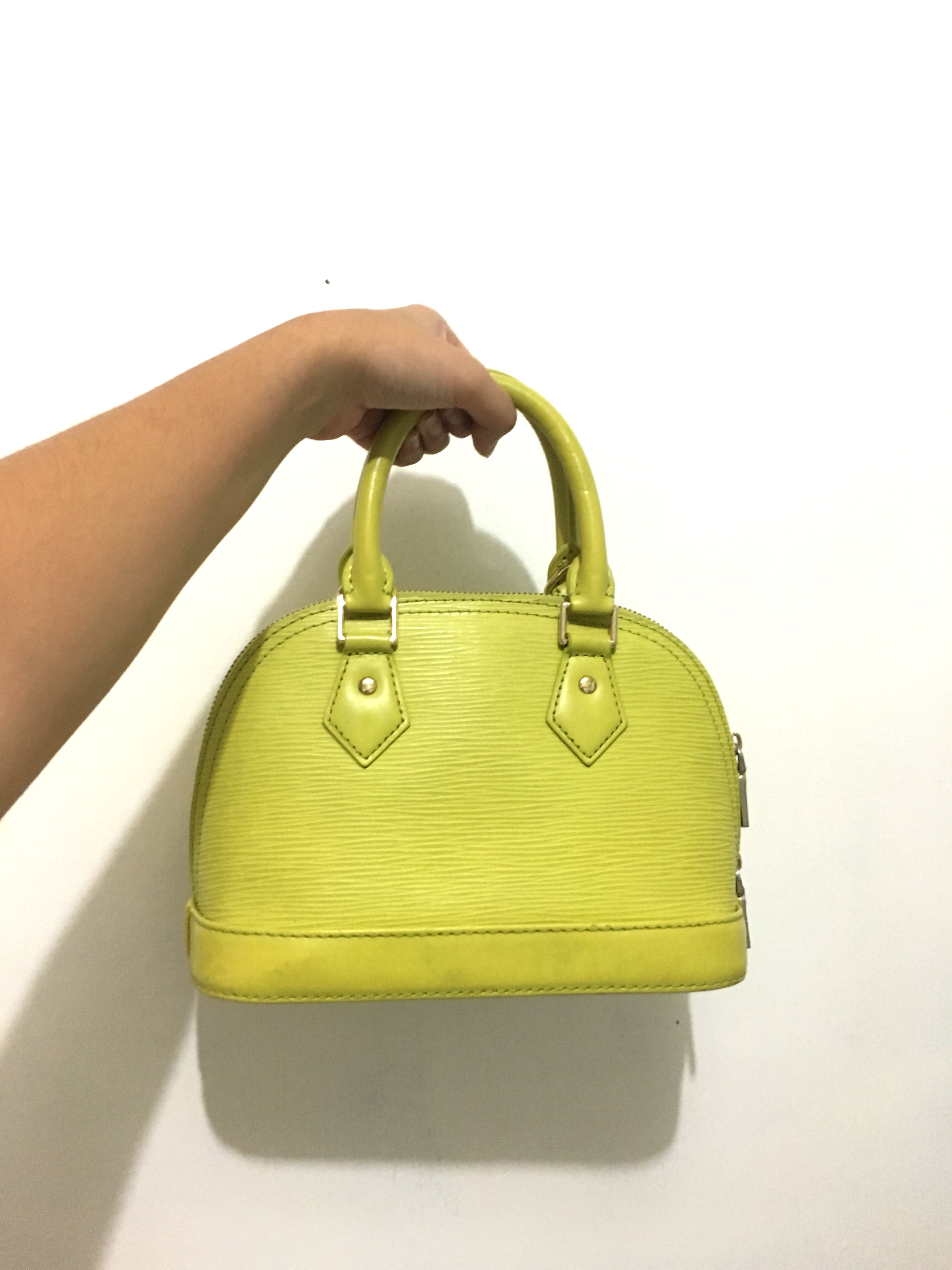 66576b30f5 Lime green mini bag (LV bb alma inspired)