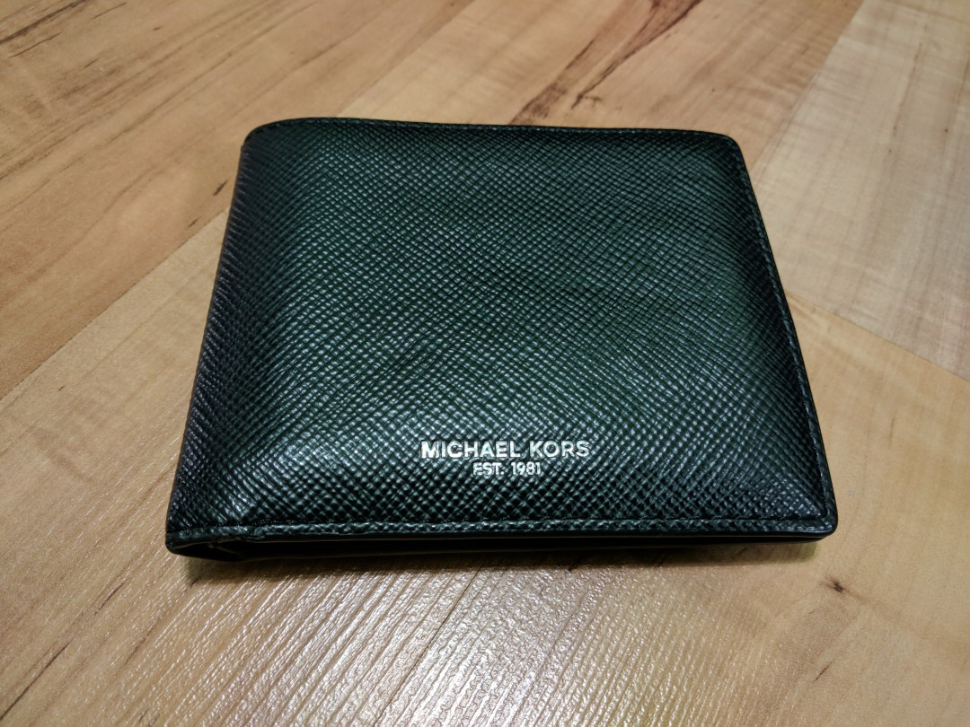 8e4c857061e2 Michael Kors Harrison Leather Billfold Men Wallet