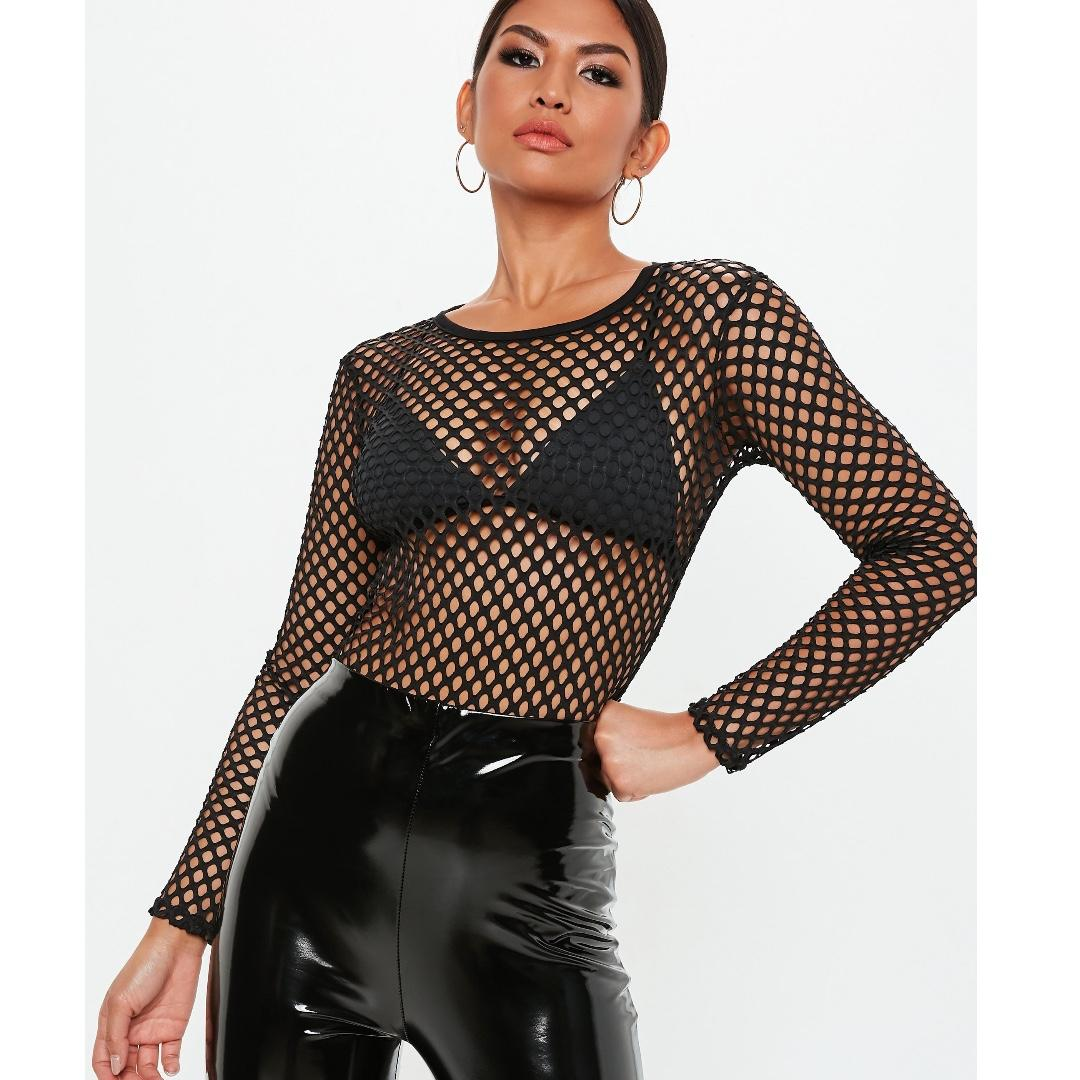 missguided black mesh bodysuit
