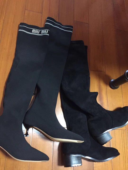 Miu Miu and Stuart Weitzman boots