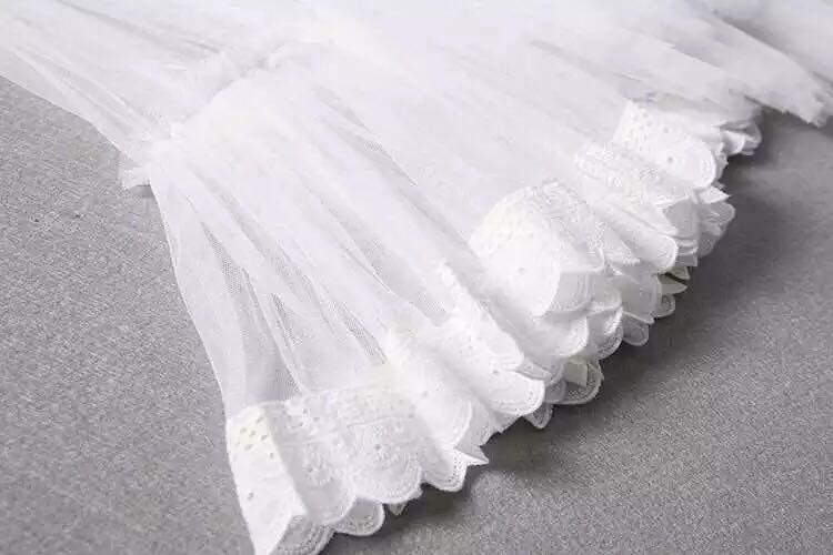 f2b4118813 More cols) Tier stepson lace trim tulle skirt, Women's Fashion ...