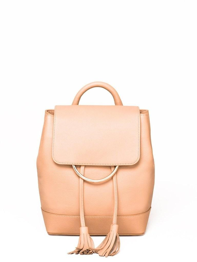 New: Colette Hayman Caramel Leather Backpack with Dustbag