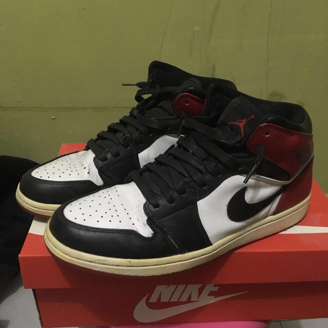 7283d5ee8e34e0 Nike air Jordan 1 black toes US 9.5