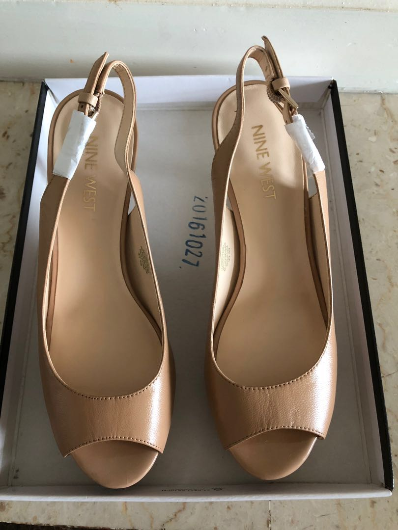 2df34c654c Nine West open toe sling back heels - Brand New, Women's Fashion ...