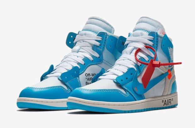 530752bb54d6f5 Off White x Air Jordan 1 UNC