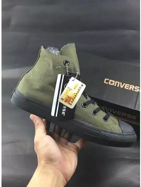ce53dadffca Sepatu Converse All Star Chuck Taylor II Green Army Hi