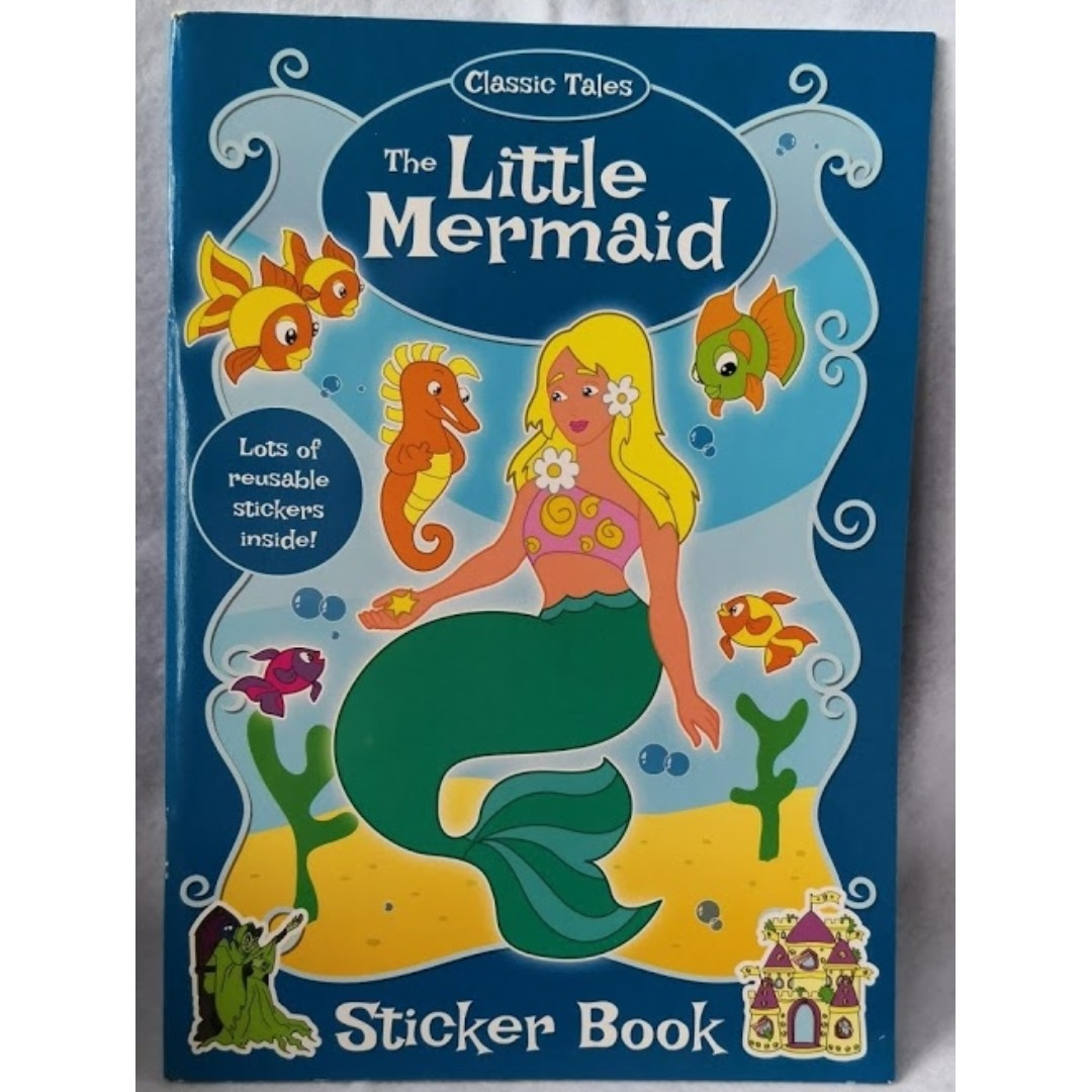 The Little Mermaid Coloring Book, Books & Stationery, Stationery on ...