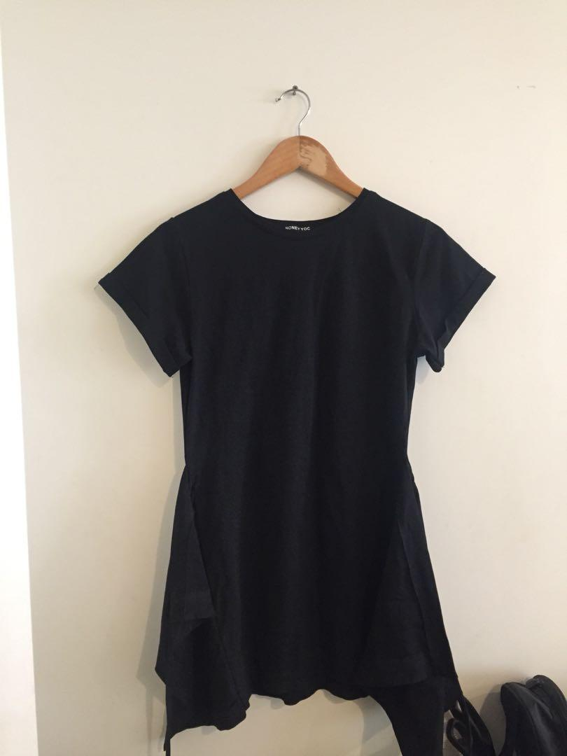 tie sash tshirt dress