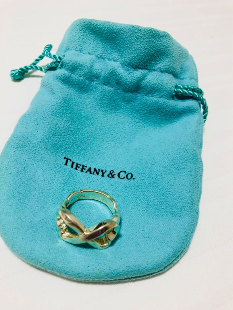 17a63feb49403 Tiffany & Co. Silver Paloma Picasso Double Loving Heart Ring w/ Pouch