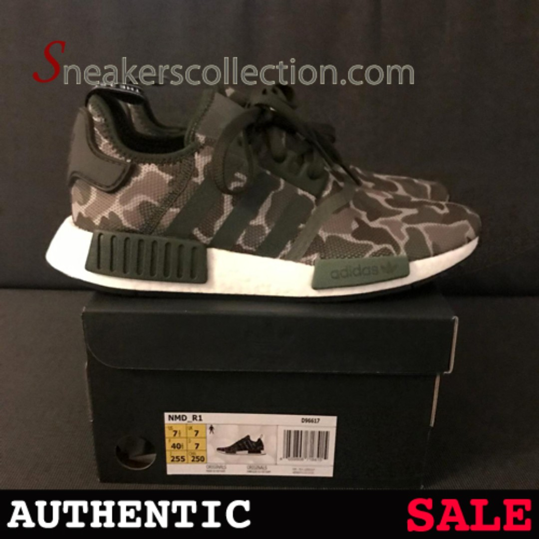 new concept 1cac9 93d13 UK7 NMD R1 Camo, Men s Fashion, Footwear, Sneakers on Carousell
