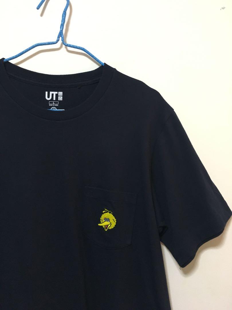 08d7a7f98 Uniqlo x Kaws x Sesame Street Big Bird Pocket Tee, Men's Fashion ...