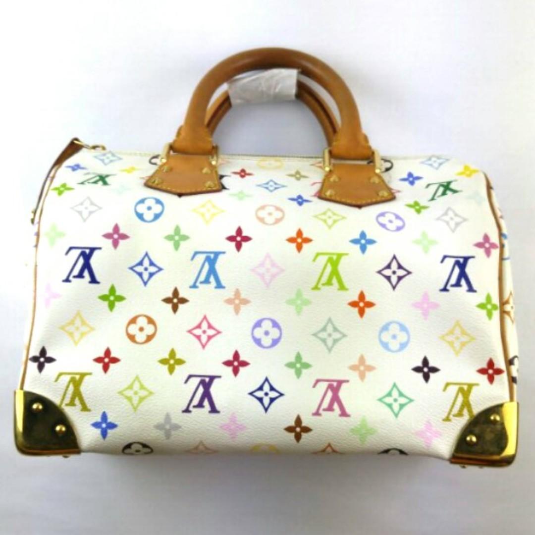 2939358ad3cc1 White Louis Vuitton Speedy Handbag Multicolour Monogram