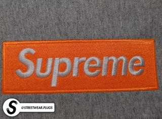 "AAA+ Quality // Supreme ""Heather Grey (Orange)"" Box Logo Hoodie (BOGO) (FW17) (BRAND NEW)"