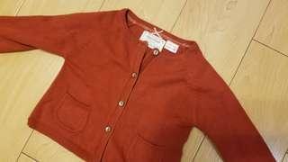 Zara Knitwear BB女 紅色 冷衫 3-6 months 90%NEW
