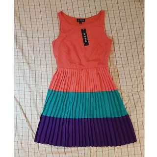 Tri-Color Corrugated Dress