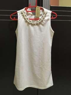 White top with beads