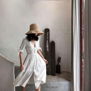 🚚 法式優雅復古深V收腰連身洋裝