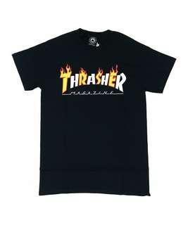 THRASHER FLAME USA SPRING 2018 TEE BLACK ORIGINAL