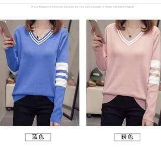 🚚 V-Neck Long Sleeves Sweater Size XL to XXXL ( Pre-Order)