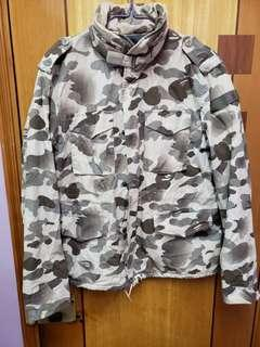 bape 罕有沙漠迷彩m65軍外套