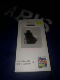 USB 2.0 Micro USB OTG TF Card Reader