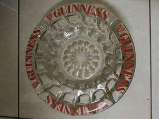 antique guinness ashtray top glass 9inch