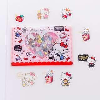 日本 全新 hello kitty Sanrio 貼紙 筆記本 手帳 記事簿 裝飾貼紙 包平郵