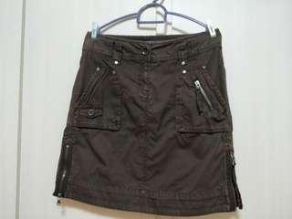 Esprit Casual Short Skirt Brown