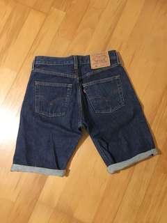 Levis原色自剪牛仔短褲