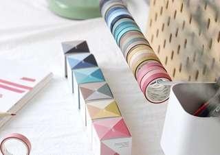 (PO) set of 4 plain washi tape