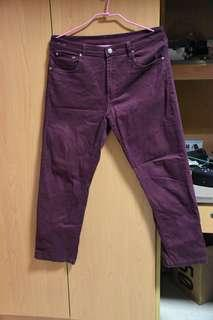 🚚 酒紅牛仔褲
