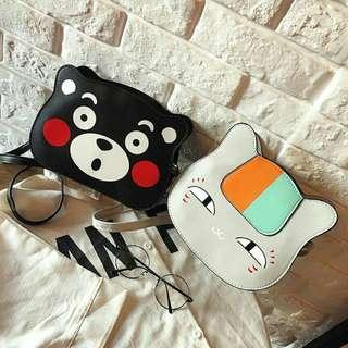 [ READY STOCK ] CUTE ANIMAL SHAPE SLINGBAG